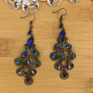 Jewelry - Peacock Earrings ( Lightweight )